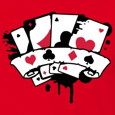four playing cards and a banner T-Shirts
