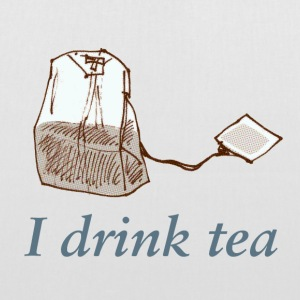 I drink tea - Stoffbeutel