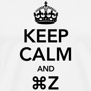 Keep Calm And Command Z Tee shirts - T-shirt Premium Homme