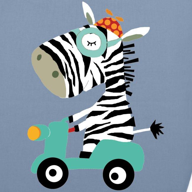 Zebra fährt Roller - organic pink!