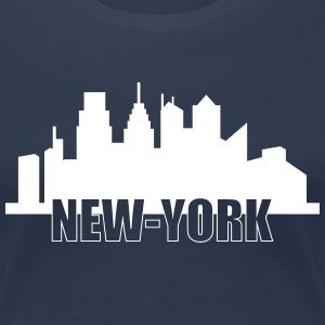 New-York T-shirts - Dame premium T-shirt