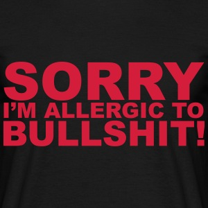 Allergic To Bullshit T-shirts - T-shirt herr