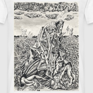 Intimidation by Brian Benson, standard white t-shi - Men's T-Shirt