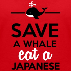 Dining - Save a Whale eat a Japanese T-shirts - T-shirt med v-ringning dam