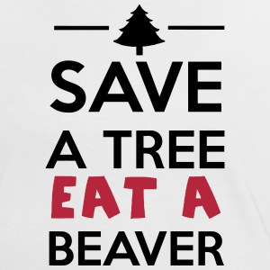 Forêt et animale -  Save a Tree eat a Beaver Tee shirts - T-shirt contraste Femme