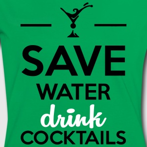 Alcol Fun Shirt- Save Water drink Cocktails Magliette - Maglietta Contrast da donna
