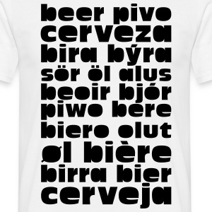 Beer Language  T-Shirts - Men's T-Shirt
