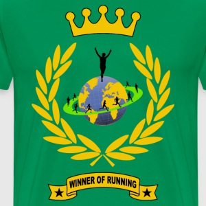 winner of running T-Shirts - Men's Premium T-Shirt