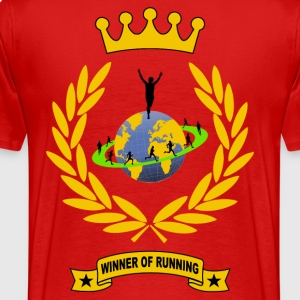 winner of running Tee shirts - T-shirt Premium Homme