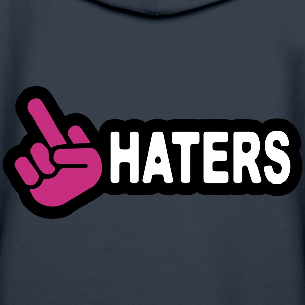 Fuck Haters Sweat-shirts - Sweat-shirt à capuche Premium pour femmes
