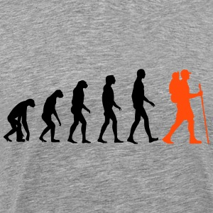 hiking evolution T-shirts - Mannen Premium T-shirt