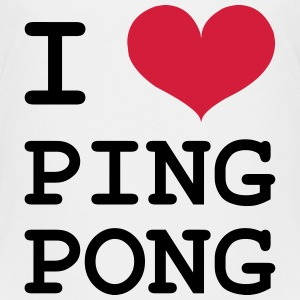 I Love Ping Pong T-Shirts - Teenager Premium T-Shirt
