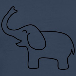 Happy Elephant Baby T-skjorter - Premium T-skjorte for menn