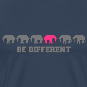 Elephants Be Different T-shirts - Herre premium T-shirt