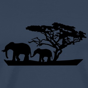 Africa Tree And Elephants T-Shirts - Männer Premium T-Shirt