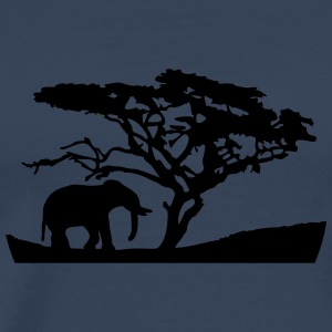 Africa Tree And Elephant Camisetas - Camiseta premium hombre
