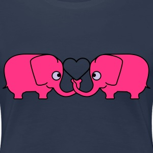 Love Elephant Couple T-Shirts - Women's Premium T-Shirt