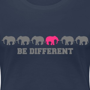 Elephants Be Different T-shirts - Vrouwen Premium T-shirt