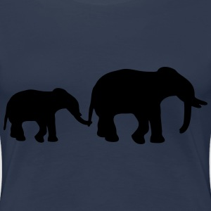 Elephant Mother T-skjorter - Premium T-skjorte for kvinner