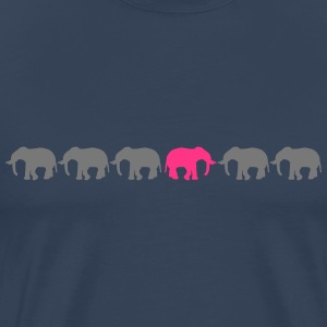 Be Different Elephants T-skjorter - Premium T-skjorte for menn