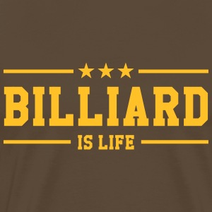 Billiard is life ! T-shirts - Herre premium T-shirt