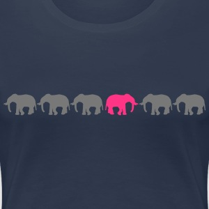 Be Different Elephants T-shirts - Dame premium T-shirt