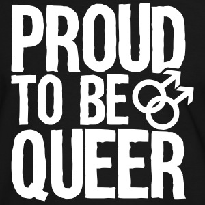 Proud to be queer - gay T-shirts - Kontrast-T-shirt herr