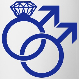 Gay Marriage Ring Symbol Flaschen & Tassen - Tasse