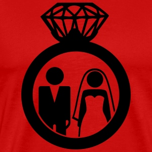 Just Married wedding couple ring - Hochzeitspaar T-Shirts - Men's Premium T-Shirt