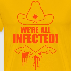 We are all infected T-shirts - Mannen Premium T-shirt