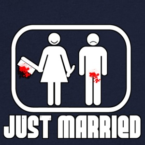 Just Married T-Shirts - Men's V-Neck T-Shirt