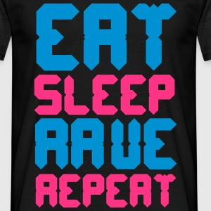 Eat Sleep Rave Repeat Camisetas - Camiseta hombre
