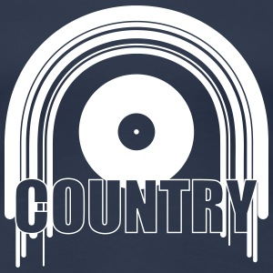Country Music T-shirts - Dame premium T-shirt