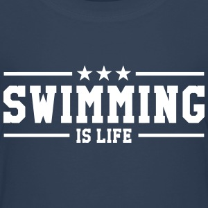 swimming is life ! T-shirts - Børne premium T-shirt