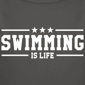 swimming is life ! Hoodies - Longlseeve Baby Bodysuit