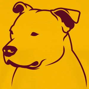 Staffbull head2013 1c_4light T-Shirts - Männer Premium T-Shirt