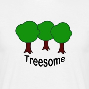 treesome / threesome - Mannen T-shirt