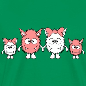 Cute Monster Family T-Shirts - Männer Premium T-Shirt