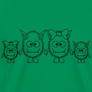 Cute Monster Family Camisetas - Camiseta premium hombre