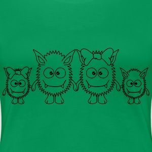 Cute Monster Family T-Shirts - Women's Premium T-Shirt