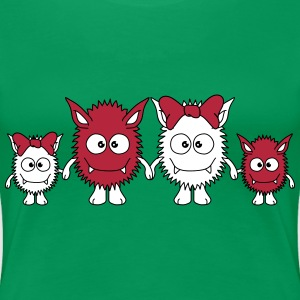 Cute Monster Family Camisetas - Camiseta premium mujer