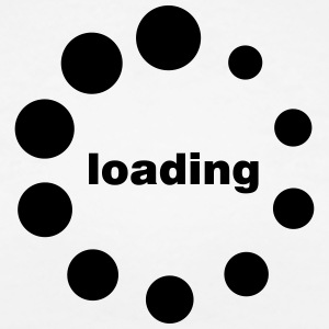 loading waiting thinking Beladung Preloader T-shirts - Vrouwen Premium T-shirt