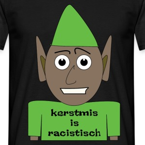 Kerstmis is racistisch - Mannen T-shirt