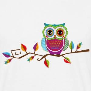 Owl sitting on a branch T-Shirts - Men's T-Shirt