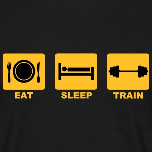 Eat Sleep Train T-Shirts - Men's T-Shirt