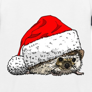 Cute Christmas Hedgehog Baseball Tee - Kids' Baseball T-Shirt