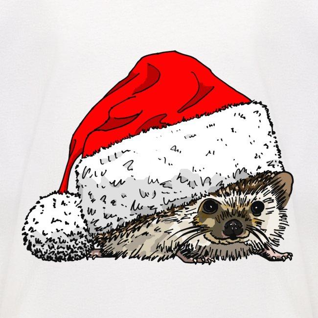 Cute Christmas Hedgehog Baseball Tee