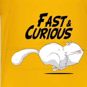 Fast and Curious Cat - T-shirt Premium Enfant