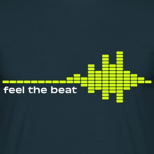 feel the beat T-shirts - Mannen T-shirt