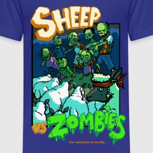 sheep vs zombies Shirts - Kids' Premium T-Shirt